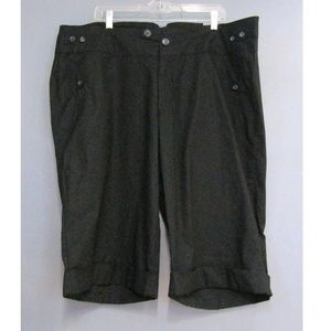 NEW Lane Bryant Venezia Black Bermuda Shorts 24